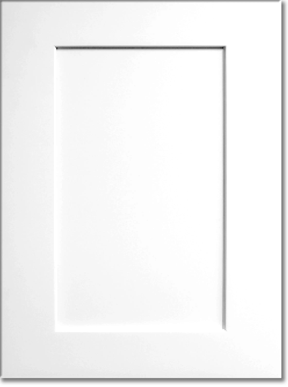 Summit White Shaker RTA Cabinet Display Door